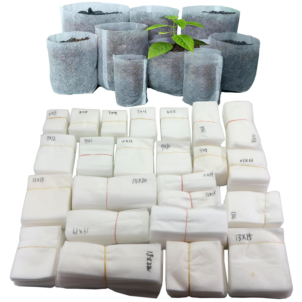 Biodegradable Nonwoven Fabric Nursery Plant Grow Bags Seedling Growing Planter Planting Pots Garden Eco-Friendly Ventilate Bag