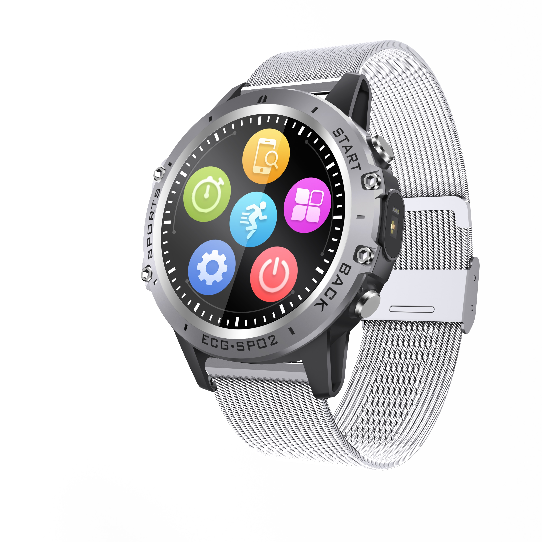 Смарт-часы для мужчин 1,3 full touch PPG ECGI P68 Водонепроницаемый Фитнес-браслет оксиметр фитнес-трекер спортивные Смарт-часы для Huawei
