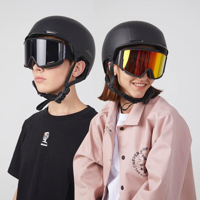 Polarized Mountain Ski Glasses Snowboard Goggles Cylindrical Mirror Goggles Single Board Esqui Mujer Skiing Snowboarding EF50SG