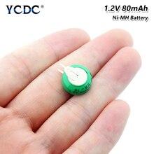 1/2/4/6/8/10 pièces 1.2V 80H 80mAh Ni-MH Rechargeable Nickel métal hydrure pile bouton pour écouteurs sans fil