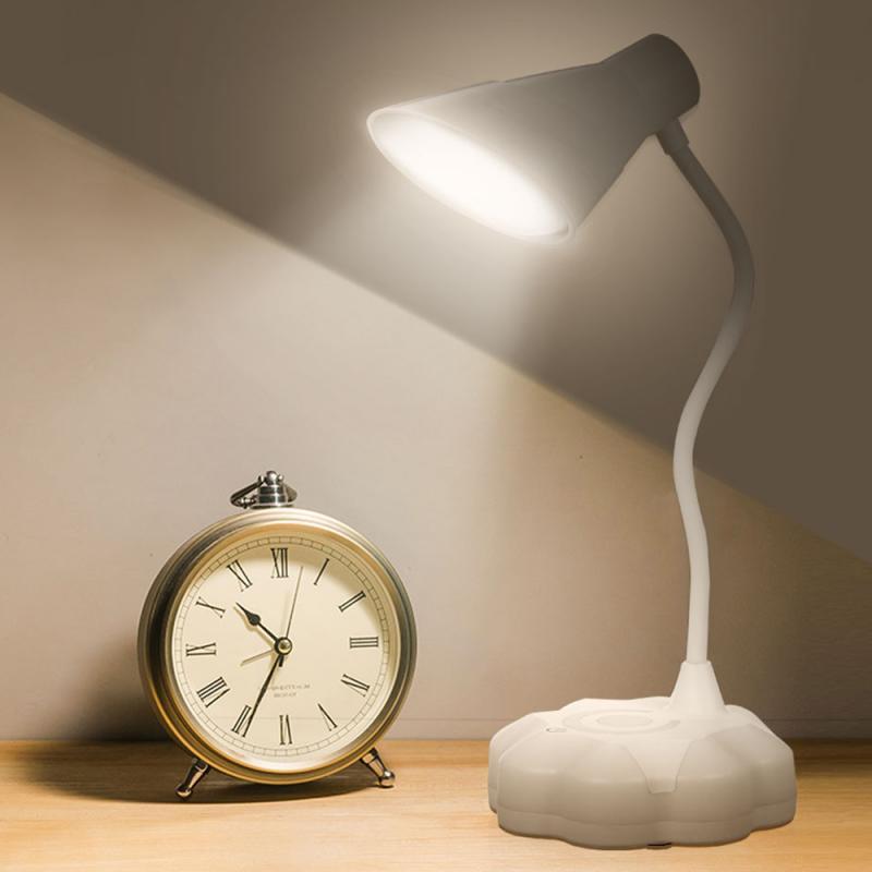 flexo candeeiro de mesa led lampada de mesa de carregamento usb olho toque led estudo