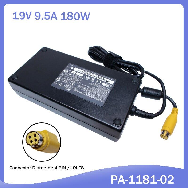 Adaptador e carregador de bateria toshiba, 19v 9.5a 180w para satélite qosmio x205 x505 x870 PA3546E-1AC3 pqx33u ac PA-1181-02