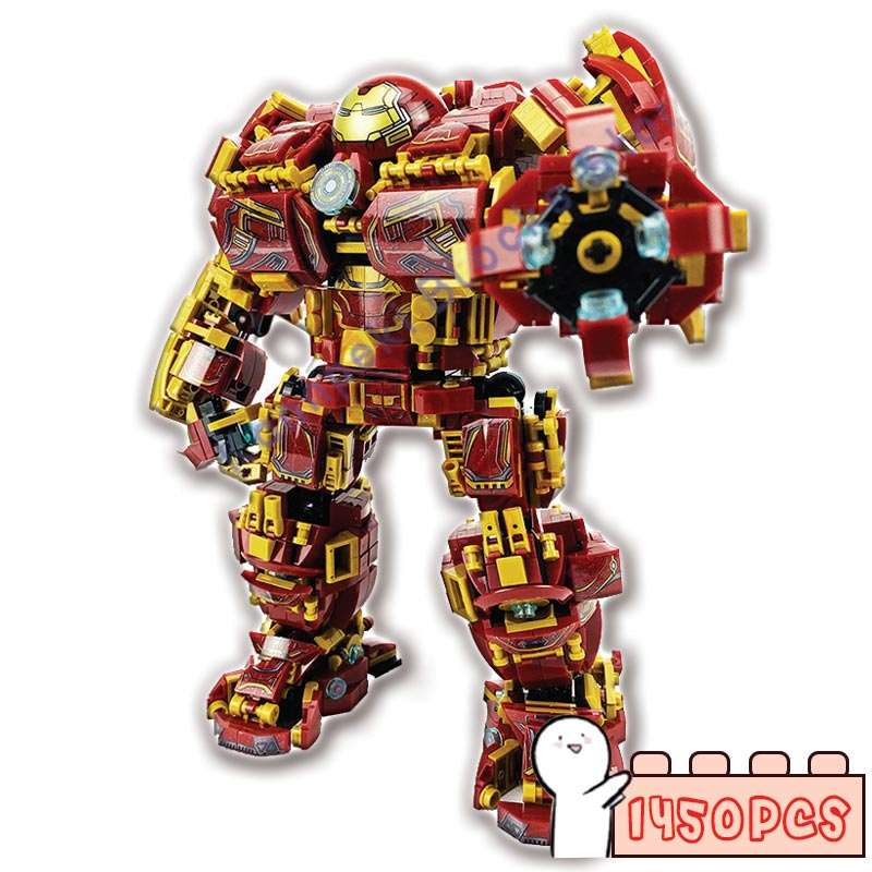 1450PCS Buster Mecha Building Blocks War Super Iron Robot DIY Children Gifts Toys Military Heroes Weapon Bricks MOC kazi space military war weapon battle plane building blocks 342pcs bricks educational assemble toys for children gifts