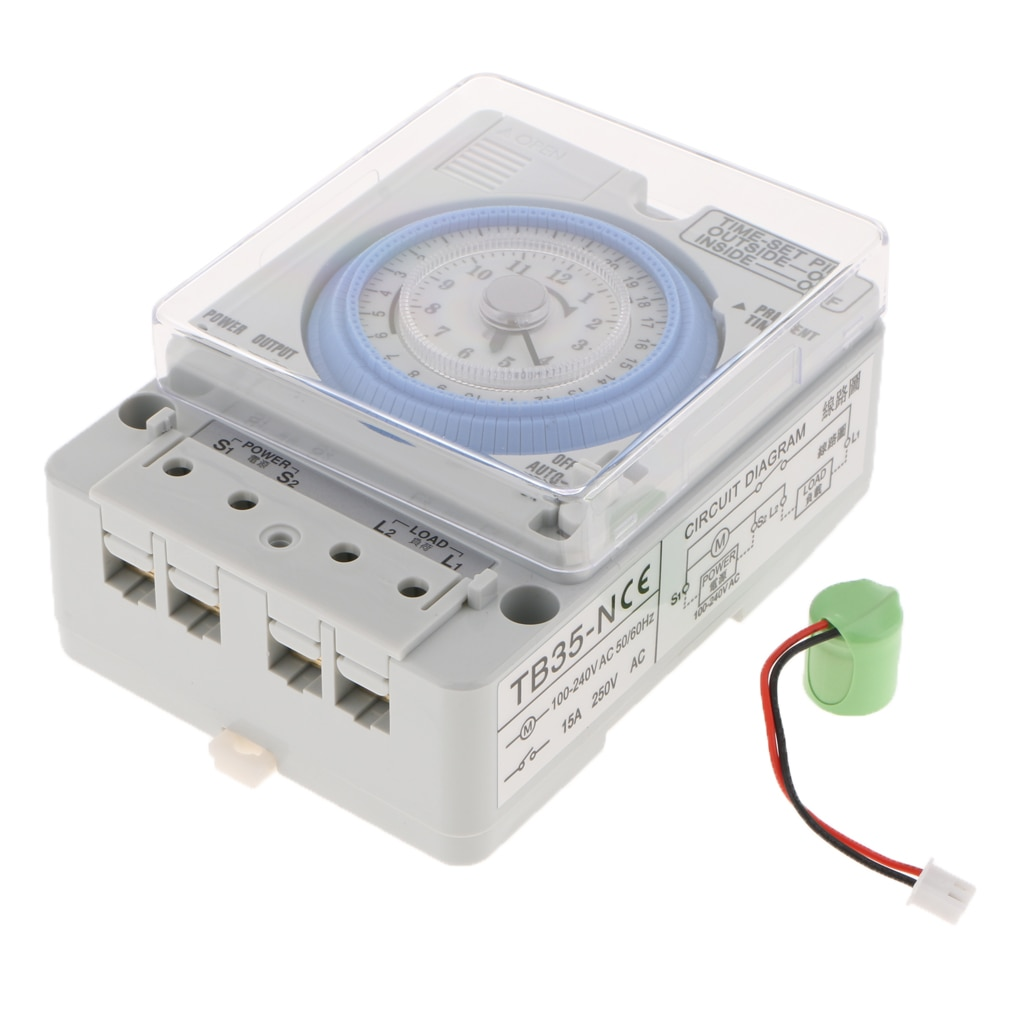 Time Controller Din Rail Mounted 24Hrs Chronometry Timer Mechanical Switch Industrial Analogue Timer Device