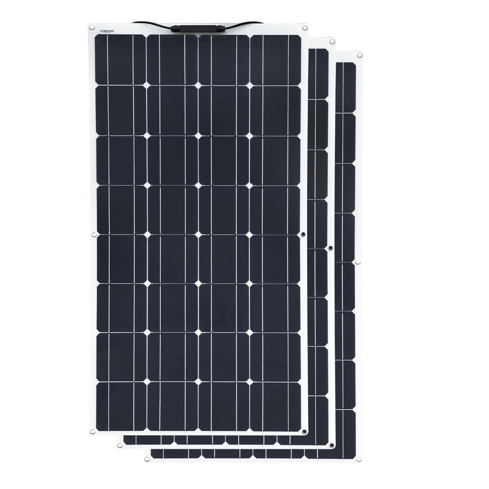 Fora do Carregador Portátil da Pilha dos Pces Familiar dos Veleiros 100w da Grade para Baterias do Agregado Painel Solar Monocristalino Flexível 3 Etc. 300w