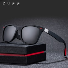 ZUEE Brand Design Polarized Sunglasses Men Women Driver Shades Male Vintage Sun Glasses Men Spuare M