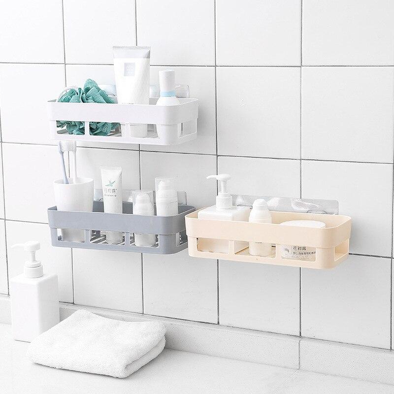 Perchero De plástico para baño, colgador De toallas, estante para ducha y...