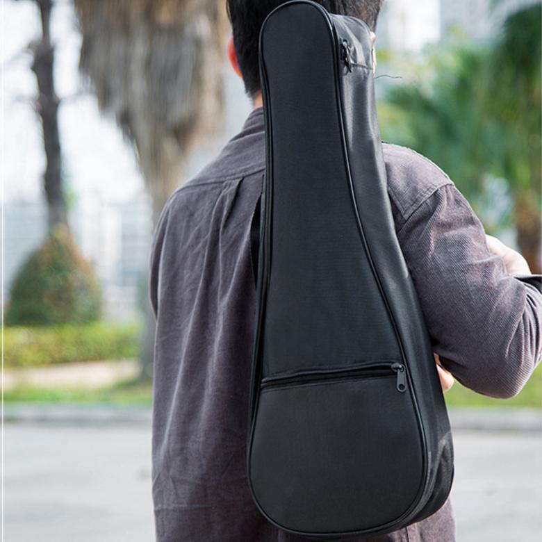 SLADE 23 Inch Black Portable Ukulele Bag Soft Case Gig Cotton Waterproof Bag Single Shoulder Backpack Padded Musical Instrument