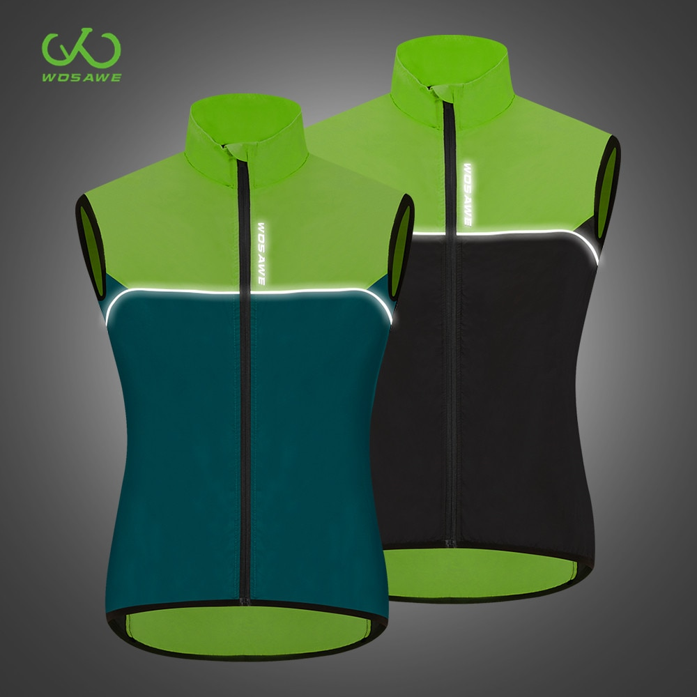 WOSAWE Windproof Sleeveless MTB Motorcycle Jacket Out Wear Reflective Waterproof Road Racing Vest Gilet Windbreaker Coat enlarge