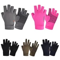 ice silk gloves men spring summer half finger cycling sports gloves fishing breathable ice silk thin sun protection gloves women