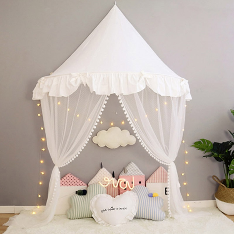 Baby Crib Mosquito Netting Tent for Kids Girls Princess Bed Canopy Children Play House Tent Tipi Enfant Teepees Home Decoration