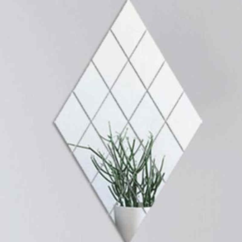 9/16PC Bathroom Mirrow Wall Decorative Self Adhesive Furniture Films 15X15cm Square Quality Mirror Foil Wall Stickers