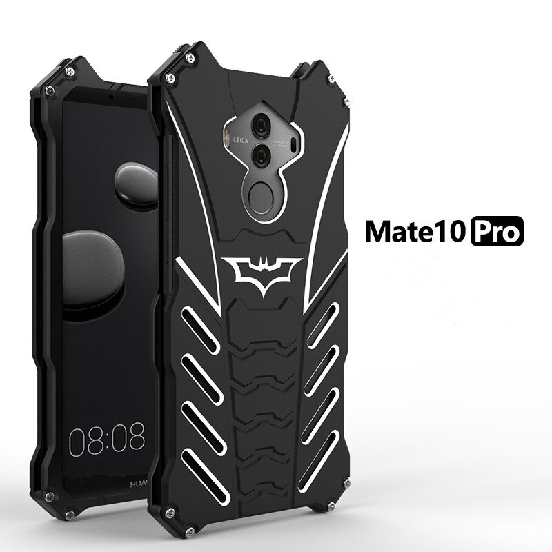 Dla Huawei Mate 7/8/9 Batman luksusowy Aluminium pancerz metalowy zderzak etui na Huawei Mate 10 Coque dla Huawei Mate 10 Pro tylna pokrywa