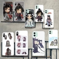 cutewanan lucky mo dao zu shi anime black tpu soft phone case cover for iphone 11 pro xs max 8 7 6 6s plus x 5s se 2020 xr cover