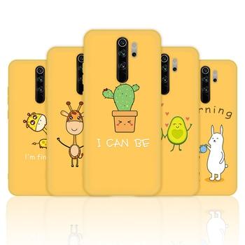 Cute Giraffe Avocado Case For Xiaomi Mi 9 SE 8 A2 A3 Lite 9T Pro CC9 CC9E Redmi Note 8 7 5 6 Pro 7 7A 6A K20 Pro Soft TPU Cover