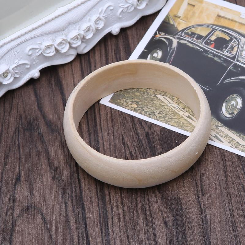 DIY Wood Bracelet Wooden Decorations Art Ornaments Drawing Painting Supply