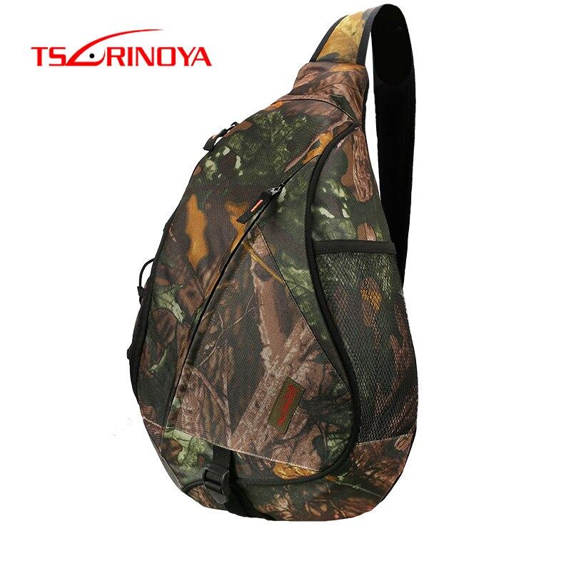 TSURINOYA Fishing Bag Large Capacity Crossbody Chest-bag E10 43.5*18.5*16cm Multi-function Waterproof Lure Box Outdoor Sling Bag