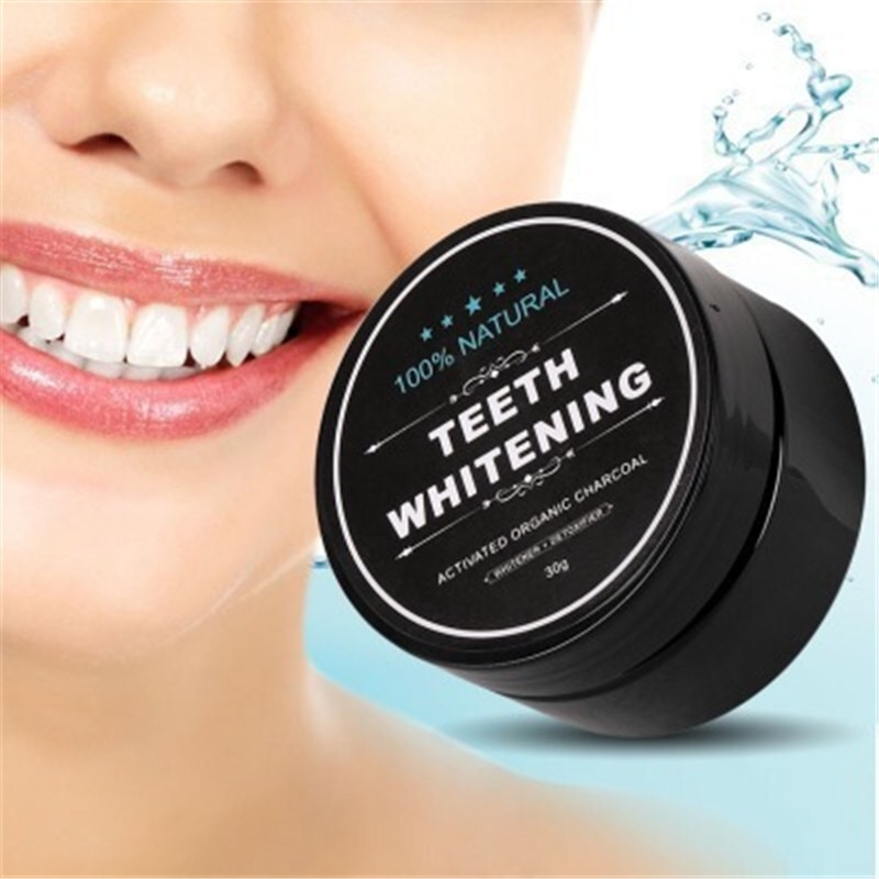 Ежедневное использование отбеливания зубов порошок для гигиены полости рта Упаковка премиум активированный бамбуковый уголь порошок 100% натуральный 30 г