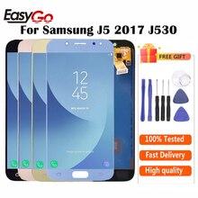 Ekran j5 pro için Samsung Galaxy J5 2017 ekran J530 J530F SM-J530F LCD ekran + dokunmatik ekran Digitizer meclisi ücretsiz kargo