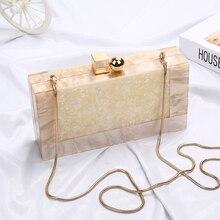Marbre motif acrylique sac de luxe sacs à main femmes sacs concepteur marque célèbre pochette fête mariage pochette sac à main bolso ZD1330