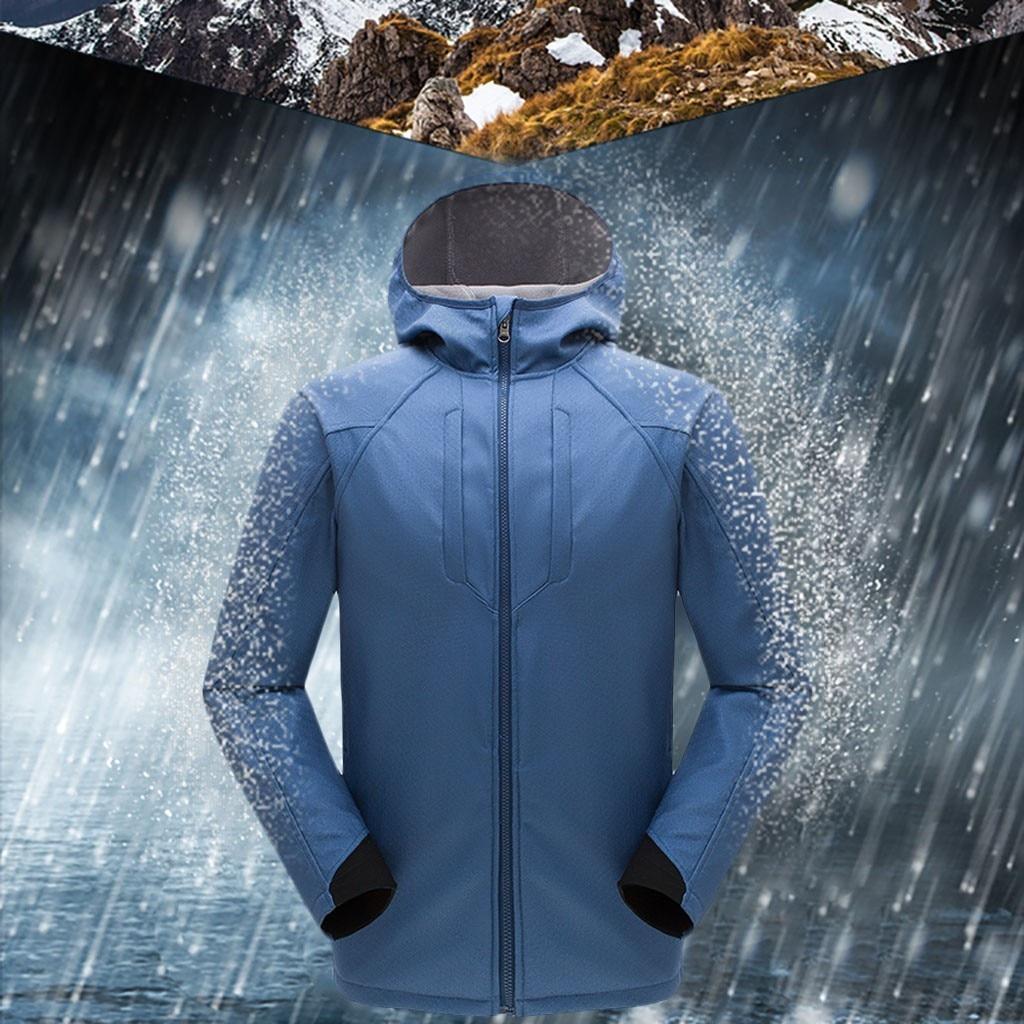 Parka de invierno para hombre cortavientos más terciopelo grueso cálido a prueba de viento abrigos masculinos JAYCOSIN con capucha chaquetas Anorak prendas de vestir para hombre sobretodo 9