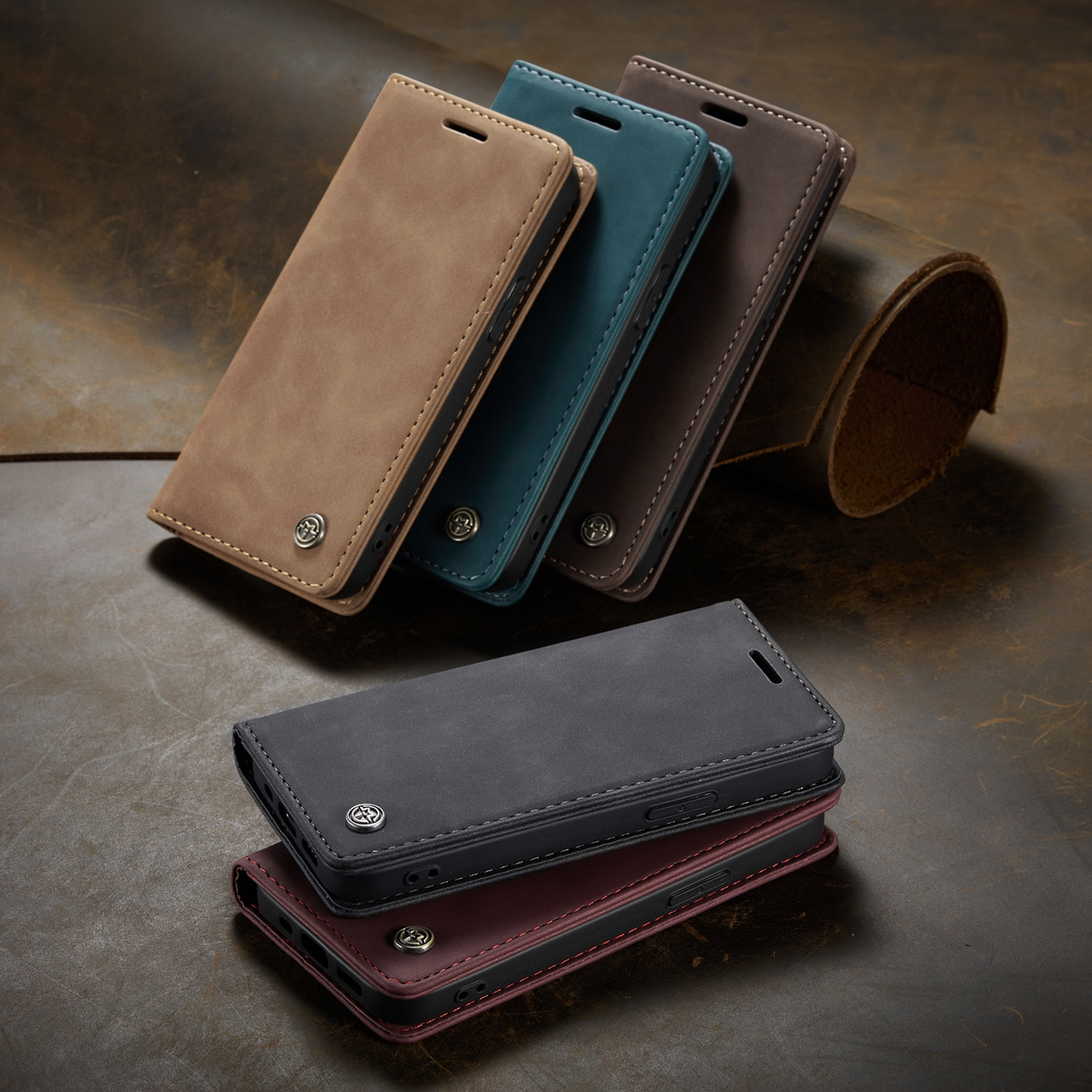 Magnetic Leather Flip Case For iPhone 12 / Pro / Pro Max PU Leather Fitted Bumper Soft Retro Flip Case Book Wallet Cover