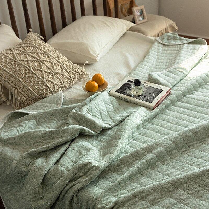 تكييف الهواء رقيقة شريط الصيف لينة لحاف واحد مزدوج تنفس أريكة مكتب السرير السفر لحاف رمي بطانية