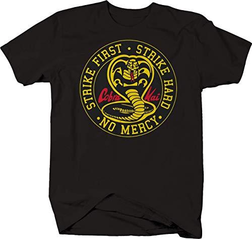Мужская футболка Cobra Kai Snake Strike, хлопковая Футболка с круглым вырезом и коротким рукавом, размер S-3XL