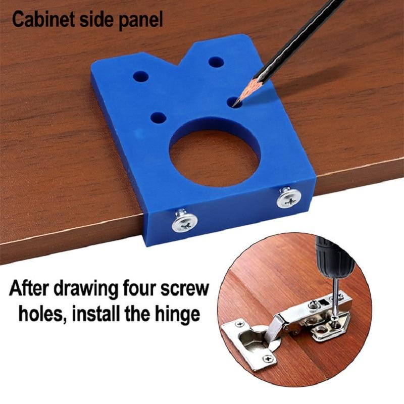 35mm Scharnier Öffnungs Stellungs Tür Panel Scharnier Positionierung Vorlage Zimmerei Scharnier Bohren Installation Hilfe