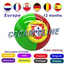 Full HD 1/2 année CCCAM Cline/espagne serveur stable en espagne 4/6/8 lignes oarnaque Cline revendeur panneau test gratuit pour v7 v8 nova