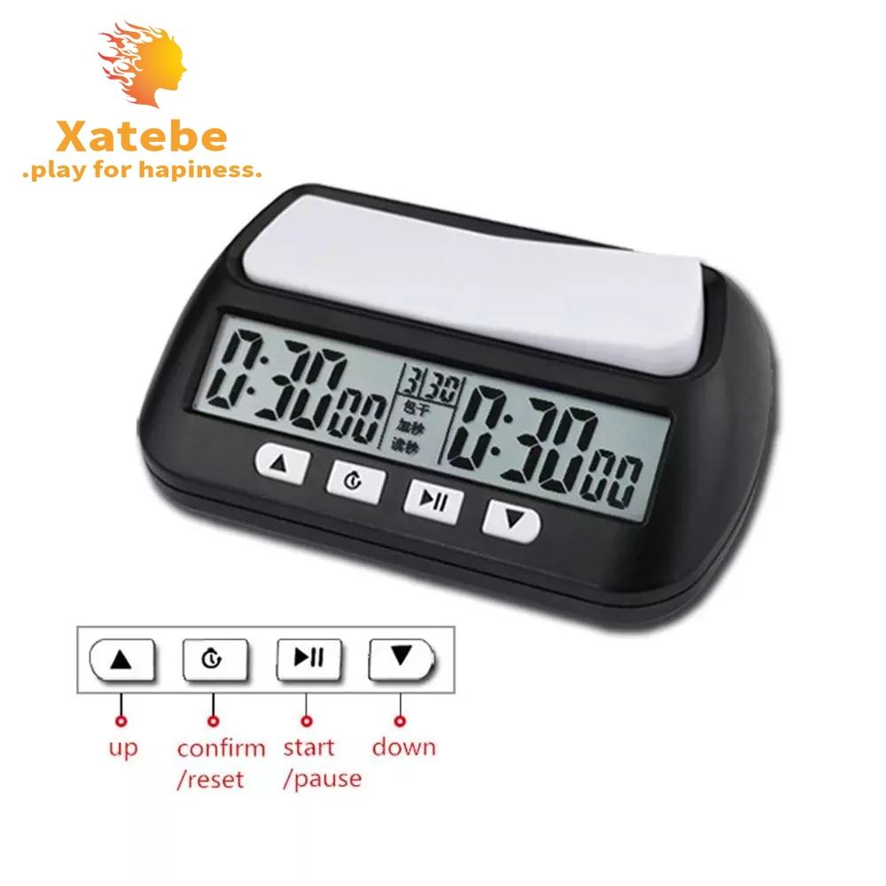 Профессиональные часы для шахмат цифровые часы отсчета времени при Настольная игра секундомер