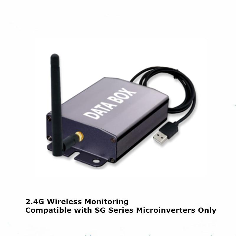 عاكس متصل بالشبكة الشمسية الصغيرة SG ، سلسلة 2.4G ، نظام مراقبة ضوئي لاسلكي ، صندوق بيانات
