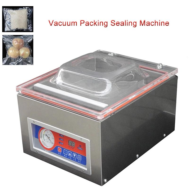 التلقائي فراغ آلة الرقمية فراغ ماكينة تعبئة وغلق السدادة Vac باكر جهاز غلق أكياس الطعام الغذاء DZ-260C التعبئة والتغليف الصناعية