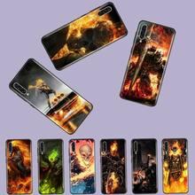 Ghost Rider Motorcycle skull terror Soft Phone Case For Samsung A20 A30 30s A40 A7 2018 J2 J7 prime J4 Plus S5 Note 9 10 Plus