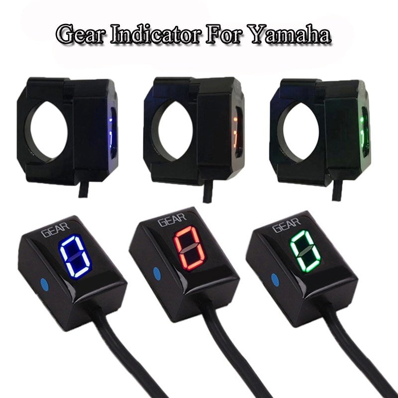Motorcycle 0-6 Speed Gear Display Indicator Ecu Plug Direct Mount Digital LED Gear Meter For Yamaha MT-125 YZF-R125 MT15 Xabre