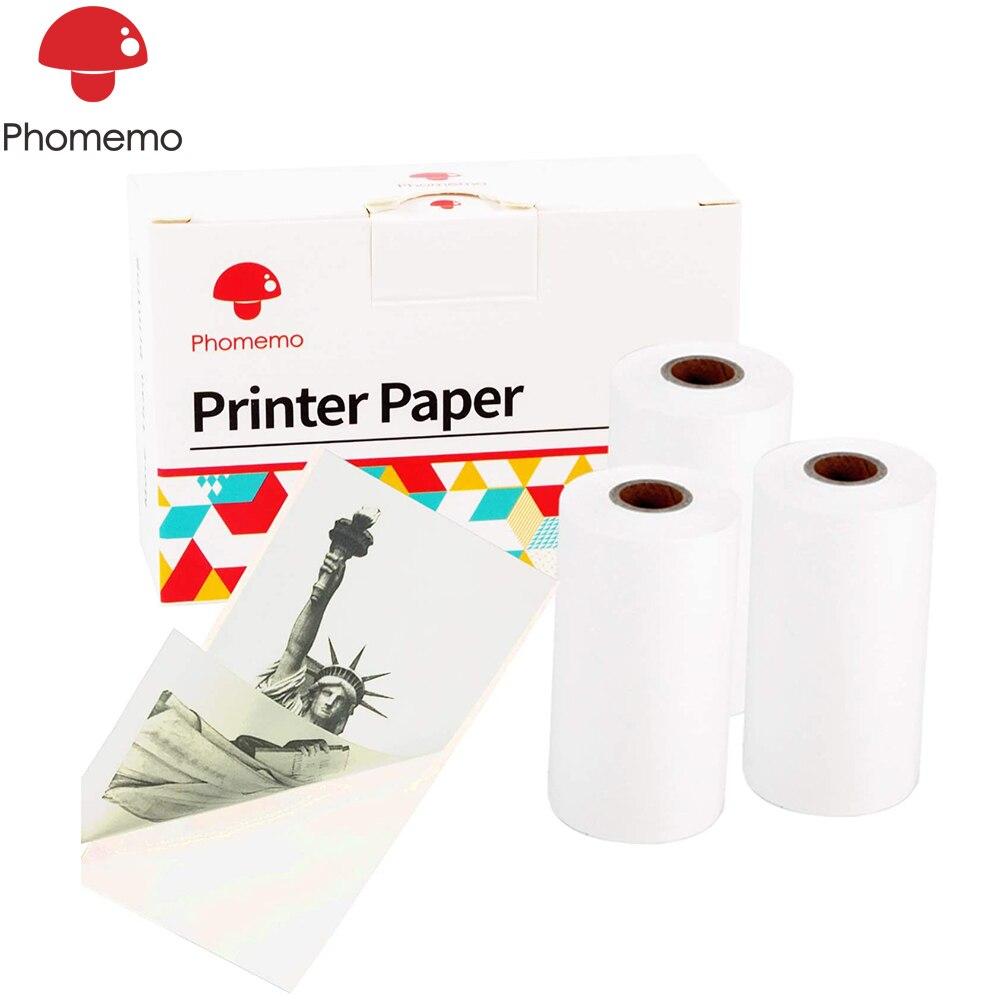 Etiqueta imprimível papel phoemo para phoemo m02/m02s/m02pro impressora térmica rolo auto adesivo foto etiqueta papel transporte rápido