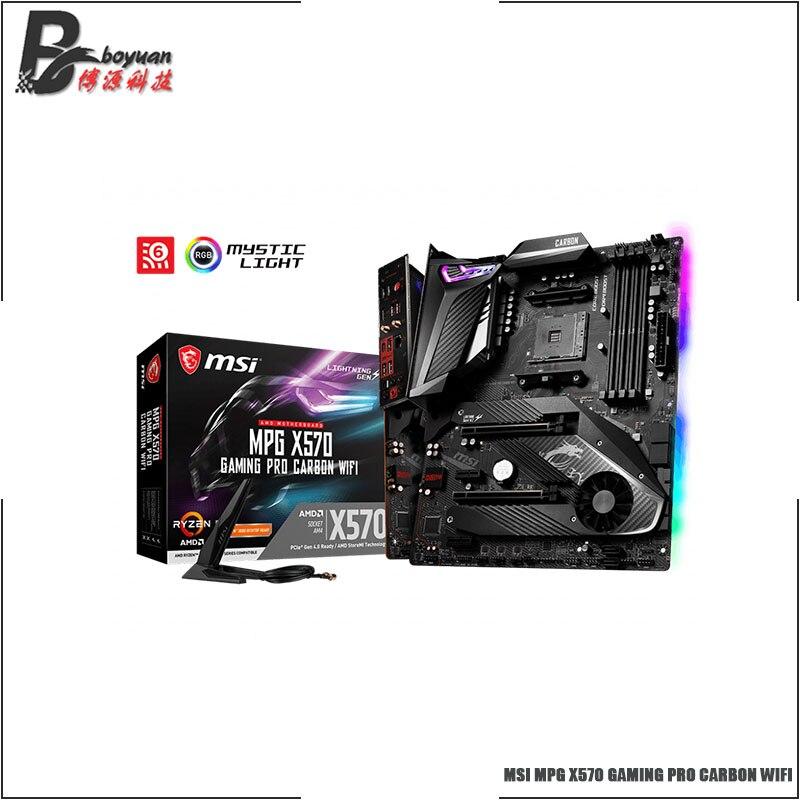 MSI MPG X570 GAMING PRO CARBON WIFI ATX AMD X570 DDR4 4400 (OC) MHz, M.2, SATA 6 Гбит/с, USB3.2, HDMI, 128G, лучшая поддержка R9 CPU Socket AM4