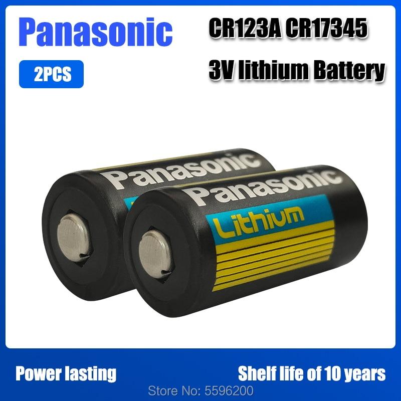 2 шт./лот Panasonic cr123a литий 3V Арло камера Аккумулятор CR123A CR17345 DL123A EL123A 123A