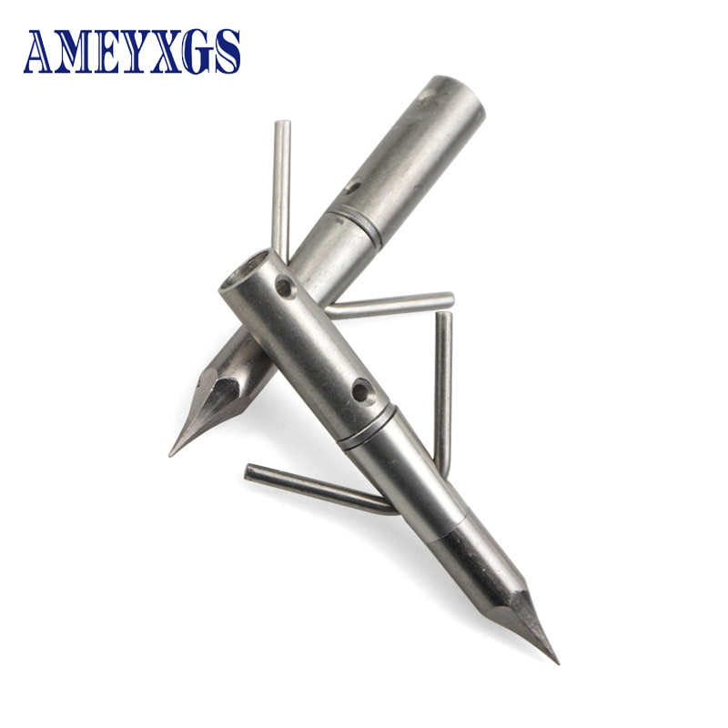 Фото - 6pcs Hunting Arrowhead Archery Stainless Steel Arrow Points Fishing Broadheads for Recurve/Compound Bow Shooting Accessories 24 30pcs archery arrowhead 100grain target arrow point tips for compound recurve bow hunting shooting practice accessories