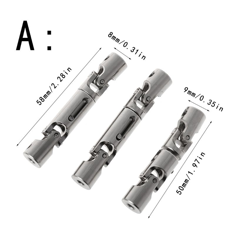 3PCS Upgrade Parts Metal Drive Shaft for WPL B-36 B-16 6WD 1/16 RC Car 203E enlarge