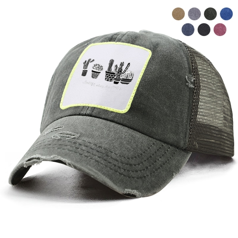 Gorra de béisbol de Cactus, Gorra estilo béisbol de rejilla transpirable para papá, gorra de Hip Hop de Harajuku, gorras deportivas para exteriores para hombre y mujer