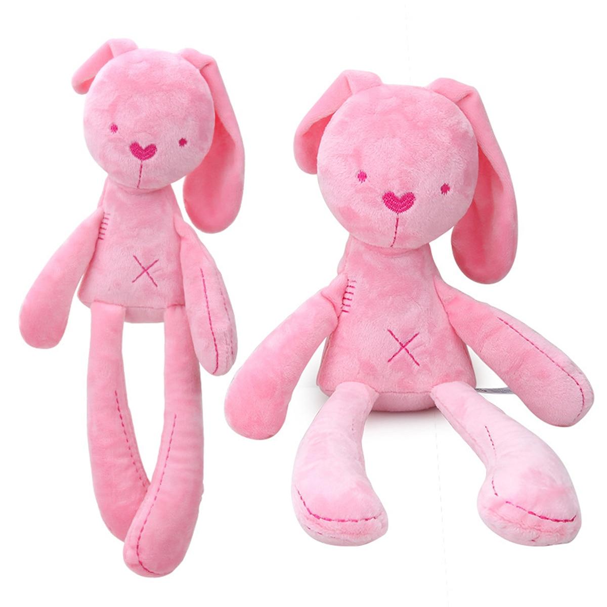 мягкая подушка для объятий/Мягкая игрушка младенцев/мягкая игрушка-кролик с длинными ступнями Бесплатная доставка скидка