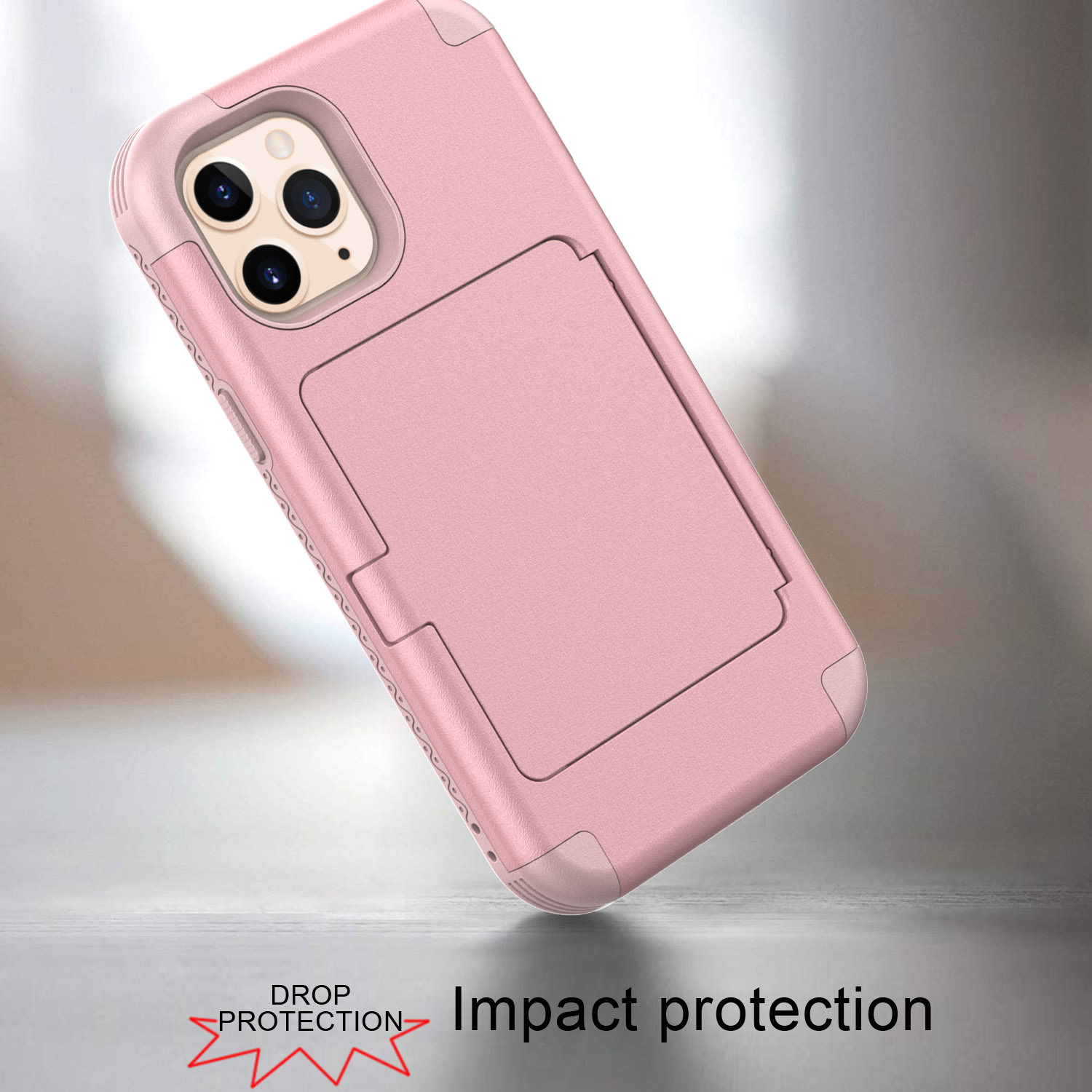 Luxury Make up Mirror Armor Case For iPhone 12 Mini 12 Pro MAX 11 Pro SE 2020 XS XR 8 7 6 Plus Wallet Card Slots Holder Cover enlarge