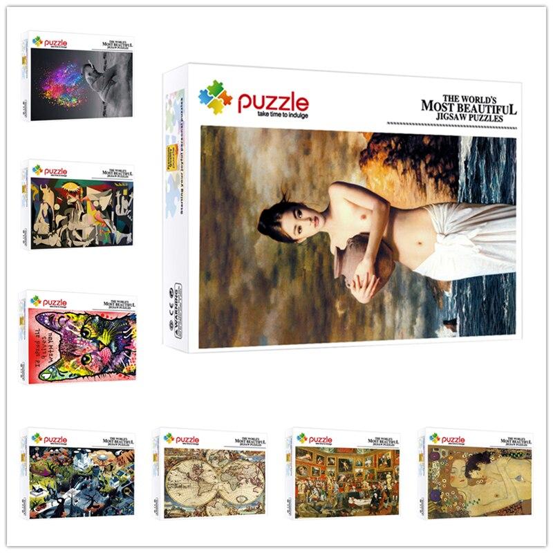 Головоломки 1000 шт. настроить персонализированные головоломки для детей и взрослых сложные игрушки сувениры на день рождения, подарок на пр...