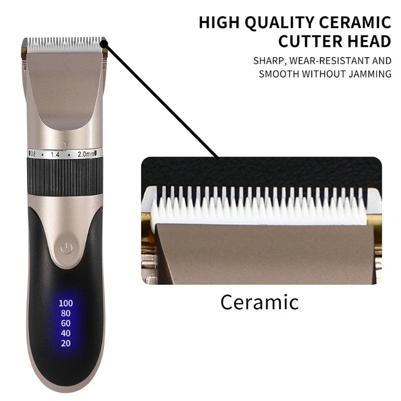Hair Clippers Professional Barber Shavers Machine 5-Speed Rechargeable Cordless Haircutting Tools for Adults Kids enlarge