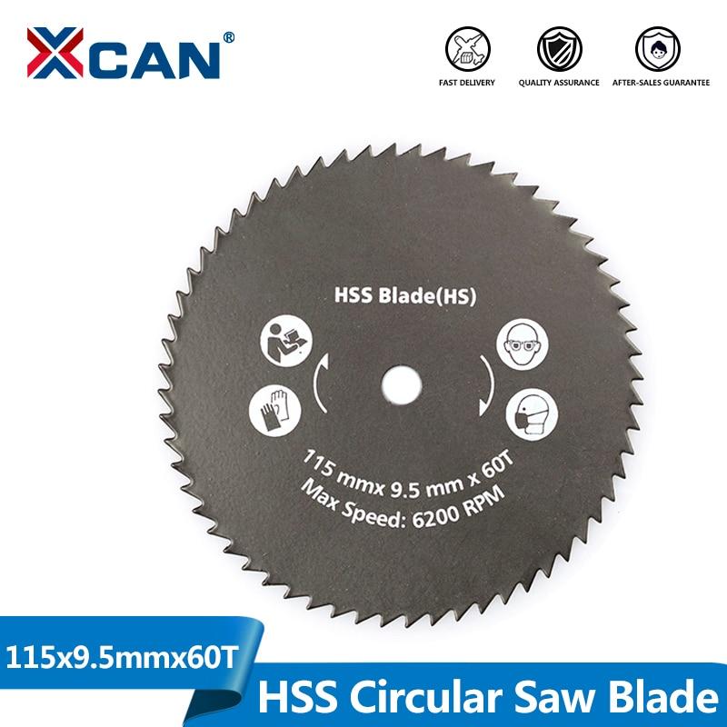 XCAN 1 шт. 115x9,5 мм 60T нитридное покрытие циркулярная пила для электроинструментов диск для резки древесины