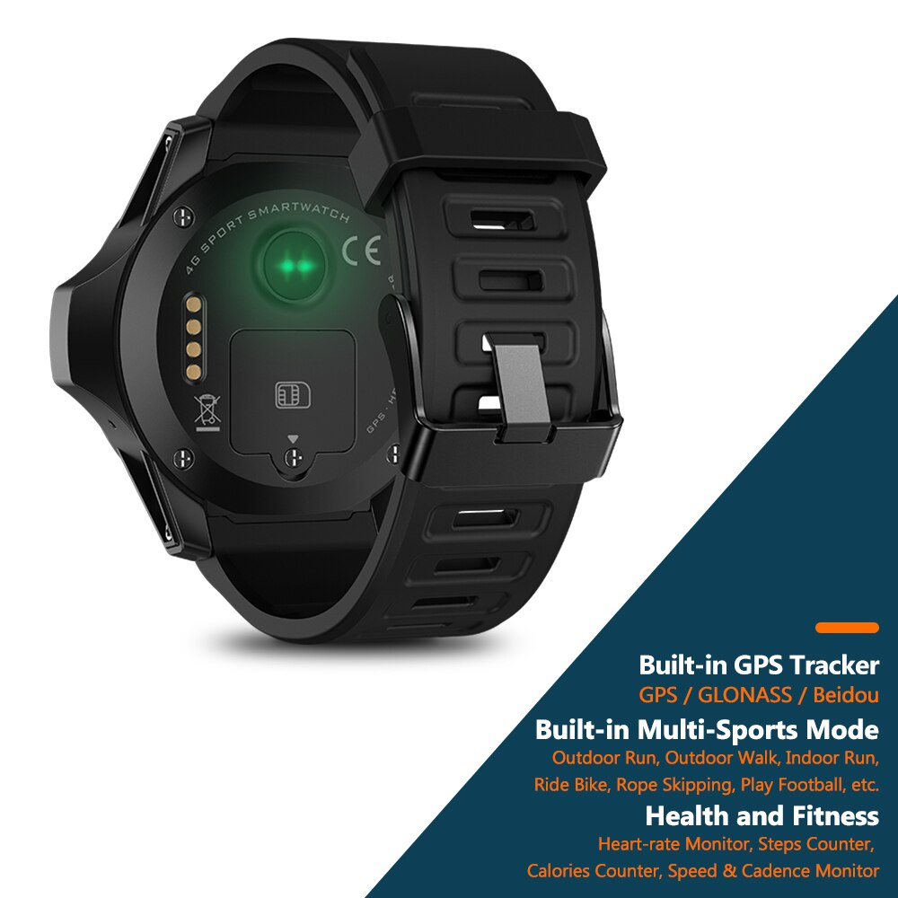 Zeblaze THOR 5 Dual System 4G Smartwatch Persistent Standby 454*454px 2GB+16GB 8.0MP Front Camera Smart Watch For Android ISO