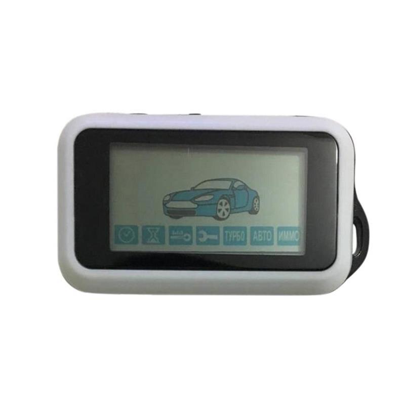 E90 LCD التحكم عن بعد سلسلة المفاتيح للنظام الروسي StarLine E90 اتجاهين إنذار سيارة