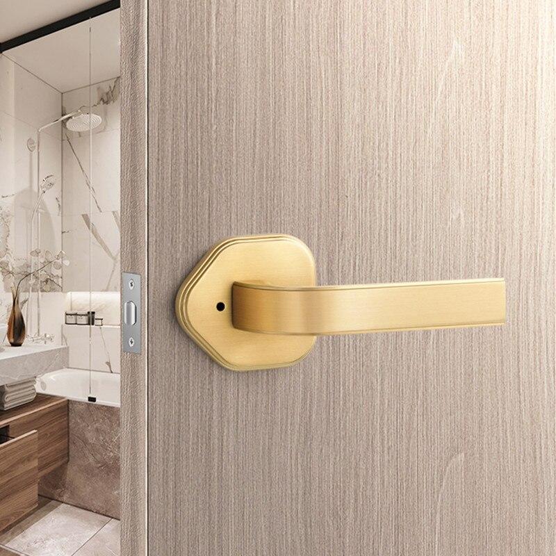 الداخلية سبائك الزنك مرحاض صامت واحد اللسان قفل الباب فندق الحمام قفل باب بدون مفتاح الأثاث إكسسوارات الأجزاء الداخلية للكمبيوتر