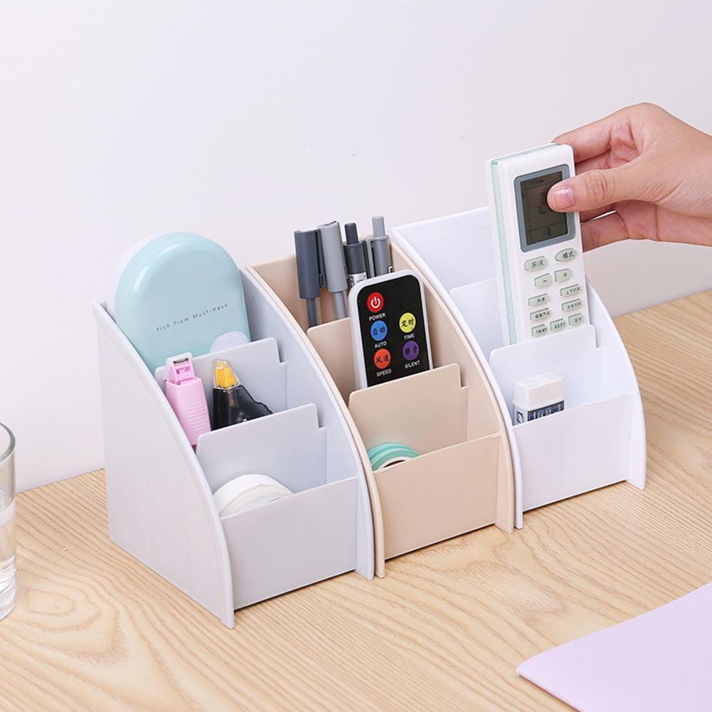 Креативный ящик для хранения пультов дистанционного управления, ротанговая отделка, хранение мусора, Настольная 3 сетки, домашняя коробка, ...